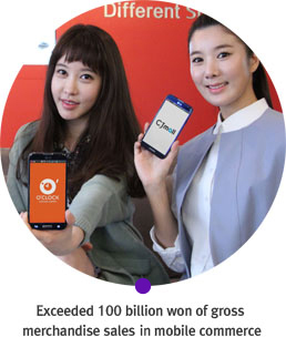 Exceeded 100 billion won of gross merchandise sales at mobile commerce